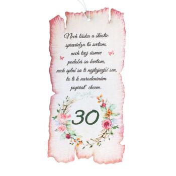 Darček k narodeninám 30