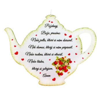 Drevený čajník Požehnaj