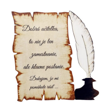 Pergamen pre učiteľku