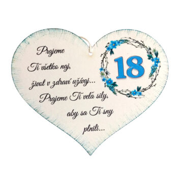 Srdiečko k narodeninám 18