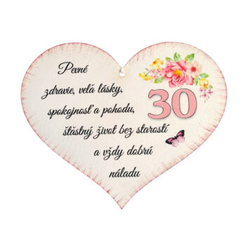 Srdiečko k narodeninám 30