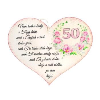 Srdiečko k narodeninám 50