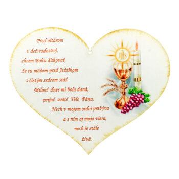 Drevené srdce Pred oltárom