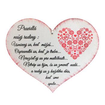 Srdce pravidlá rodiny
