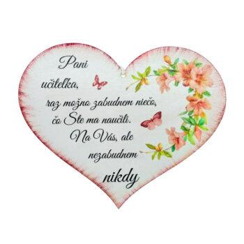 Srdce pre učiteľku