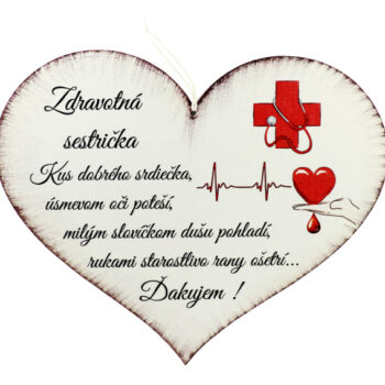 """Srdce """"Zdravotná sestrička"""""""