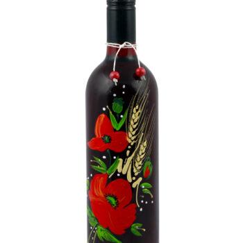 Maľovaná fľaša s vlčím makom