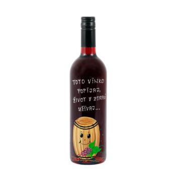 """Maľovaná fľaša """"Toto vínko popíjaj"""""""