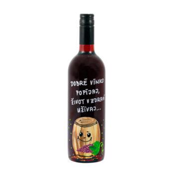 """Maľovaná fľaša """"Dobré vínko popíjaj"""""""