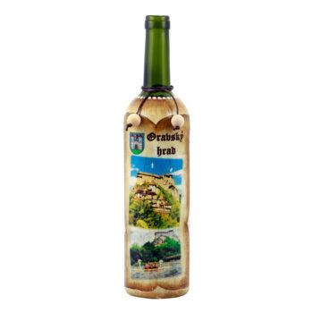 """Maľovaná fľaša """"Oravský hrad"""""""