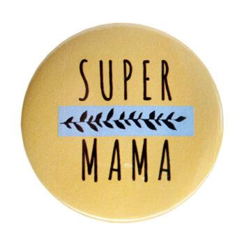 """Odznak žltý """"Super mama"""""""