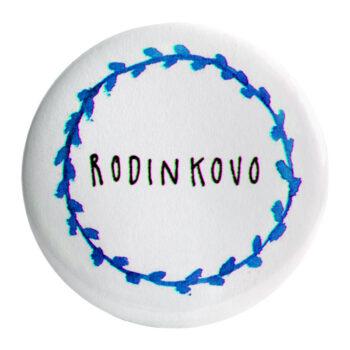 "Odznak modrý ""RODINKOVO"" 58mm"