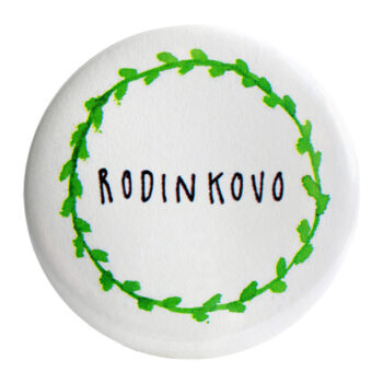 "Odznak zelený ""RODINKOVO"" 58mm"